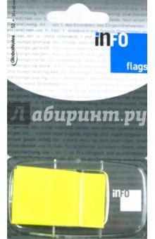 Клейкие Z закладки, пластиковые. Желтые. 25х43 мм. 50 мл. Info Notes