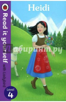 HeidiИзучение иностранного языка<br>Heidi loves living in the mountains with her grandfather and friend, Peter, and is unhappy when she moves to the city.<br>Read it yourself is a series of character stories and traditional tales, written in a simple way for children who are learning to read.<br>