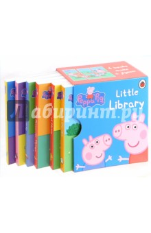 Little Library (6 books)Английский для детей<br>The Peppa Pig Little Library is a charming collection of six chunky mini books, based on the award-winning Nick Jr. television series Peppa Pig, presented in a beautiful slipcase box. The perfect gift for your little piglet!!<br>Peppa Pig is the most popular pre-school licensed character; the Peppa Pig range of books are fun, interactive and educational, ideal for encouraging children to start to read by themselves.<br>6 books make a jigsaw.<br>