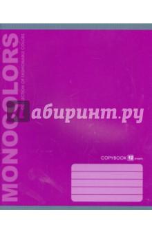 """Тетрадь 12 листов, линейка """"Однотонная"""" (неон), в ассортименте (ТЛ124734)"""