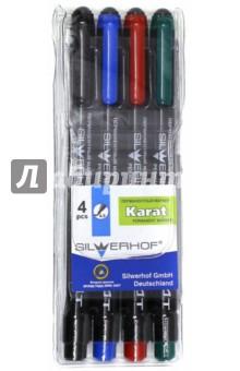 """Набор маркеров перманентных """"Karat"""" (4 цвета) (080401-12) Silwerhof"""