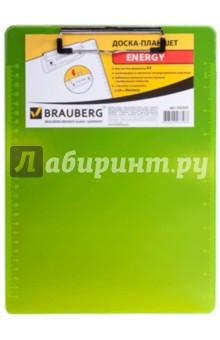 Доска-планшет с верхним прижимом А4, желтый неон (232231)Папки с зажимами, планшеты<br>Доска-планшет.<br>Для листов формата А4.<br>Материал - жесткий полупрозрачный пластик.<br>Толщина пластика - 2 мм.<br>Надежный металлический прижим с выдвижным подвесом.<br>Две линейки со шкалами в см и дюймах.<br>Сделано в Китае.<br>