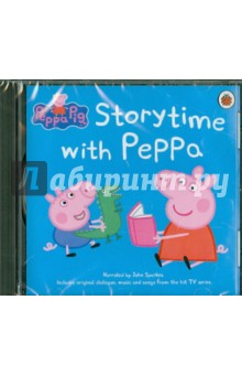 Peppa Pig: Storytime with Peppa  (CD)Английский для детей<br>Join Peppa, George and their family and friends in this new audio collection.<br>Includes thirteen funny Peppa stories, with a full cast of voices, music and special effects from the Peppa TV series.<br>