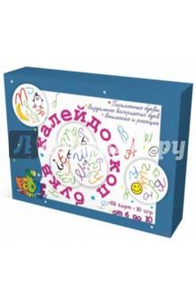 Калейдоскоп букв. Игральные круглые картыКарточные игры для детей<br>Темы: знакомство с письменными буквами, развитие внимания, памяти и скорости реакции.<br>Цель: автоматизация узнавания букв, закрепление зрительного образа букв, усиление концентрации зрительного восприятия, развитие зрительной памяти.<br>Во время игры дети учатся быстро узнавать прописные буквы в разных положениях. Пособие является отличной профилактикой дисграфии: в нем особое внимание уделяется буквам, которые дети путают по оптическому или кинетическому признаку на письме. <br>Для школьников, которые только учатся писать, и для тех, кто не вспоминал о прописных буквах во время каникул. <br>Возраст: от 6 лет<br>Наполнение: 55 круглых игральных карт<br>
