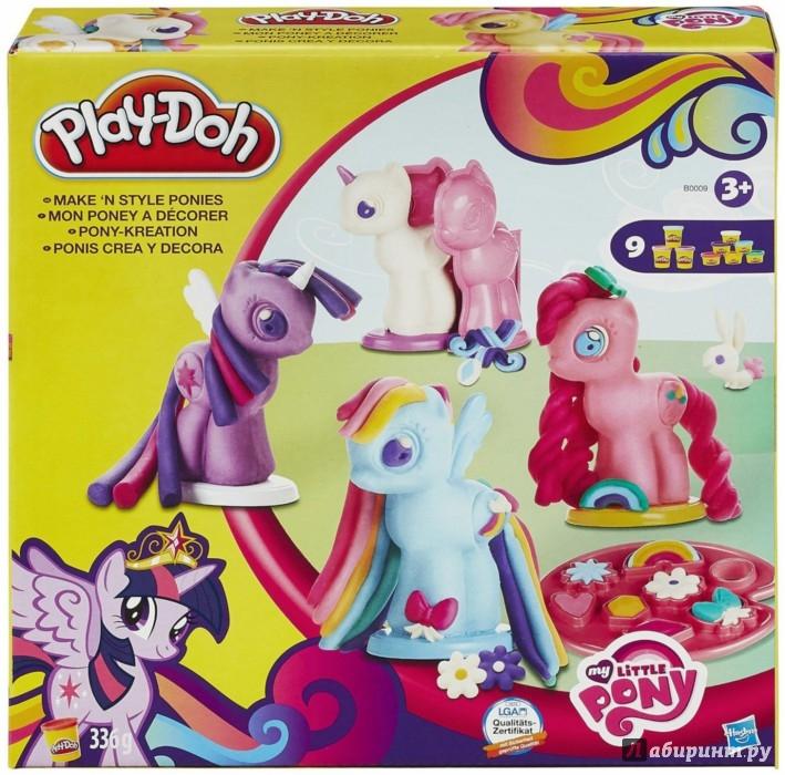 """Иллюстрация 1 из 12 для Игровой набор """"Создай любимую Пони"""" PLAY-DOH (B0009)   Лабиринт - игрушки. Источник: Лабиринт"""