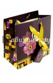 """Пакет бумажный подарочный """"Цветы"""" (А6+, в ассортименте) (2-105/5)"""