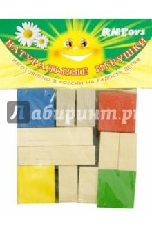 Конструктор Кубик и его части, 14 деталей (Д-638)Конструкторы из дерева<br>Конструктор знакомит с геометрическими телами и понятиями части - целое.<br>В наборе 4 цветных кубика, 2 неокрашенных кирпичика, 4 неокрашенные плашки, 4 неокрашенных столбика.<br>Материал: дерево.<br>Упаковка: пакет с подвесом.<br>Сделано в России.<br>