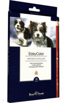 """Карандаши цветные """"Easycolor"""" (18 цветов, трехгранные) (30-0029)"""