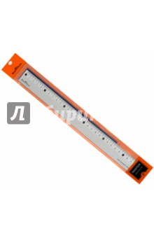 Линейка металлическая плоская. 30 см. MASTER (45-0102)Линейки<br>Линейка металлическая<br>30см.<br>Предназначена для измерительных и чертежно-графических работ.<br>На шкале дополнительно выделены интервалы в 5 см.<br>Изготовлена из анодированного алюминия.<br>Антибликовая матовая поверхность.<br>Линейка травмобезопасна, благодаря закругленным углам.<br>Сделано в Китае.<br>