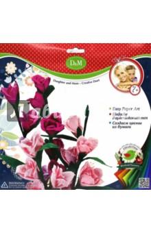 Набор для создания бумажных цветов Дикая роза (57405)Другие виды конструирования из бумаги<br>Набор для творчества из бумаги . Создаем цветы из бумаги.<br>Изготовлено из бумаги (в т.ч. с клеевой основой), с элементами картона, металла, полиэфирного волокна, пластмассы, клей.<br>Комплектность: основа для цветов и стебельков,шаблон лепестков и листьев, декор стебля, набивной материал,  клей, декоративные тычинки.<br>Для детей от 3 -х лет.<br>Сделано в Китае.<br>