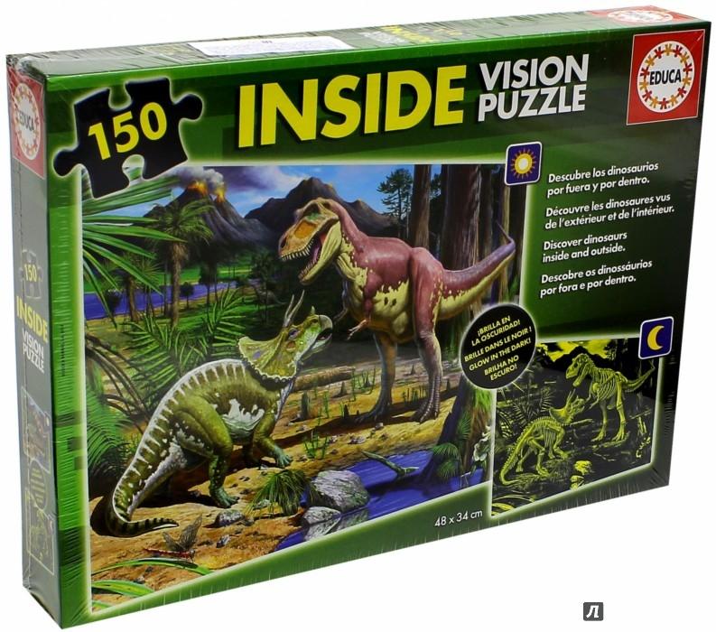 """Иллюстрация 1 из 5 для Пазл-150 """"Динозавры"""", светится в темноте (15897)   Лабиринт - игрушки. Источник: Лабиринт"""