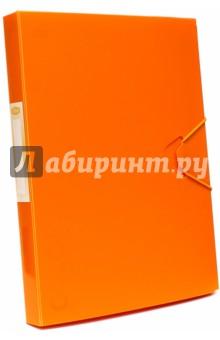 Папка-бокс с резинкой Neon Orange (85524)Папки-конверты на резинках<br>Качественная папка-бокс с резинкой. <br>Для хранения и переноски документов.<br>Формат А4+.<br>Цвет: оранжевый.<br>Толщина 30 мм.  <br>Сделано в России.<br>