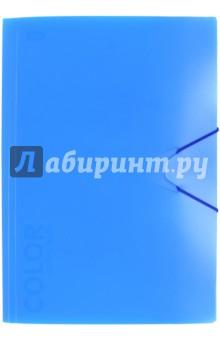 "Папка с клапанами и резинкой ""Neon Blue"" (85530)"