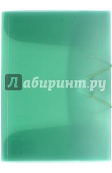 Папка с клапанами и резинкой, зелёный полупрозрачный (85548) Икспрессо