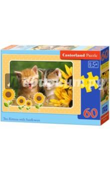 Puzzle-60 MIDI Котята с подсолнухами (В-06779)Пазлы (54-90 элементов)<br>Пазл-мозаика.<br>Способствуют развитию образного и логического мышления, наблюдательности, мелкой моторики и координации движений руки.<br>Размер собранной картинки: 32х23 см<br>Количество элементов: 60<br>Материал: картон.<br>Упаковка: картонная коробка.<br>Правила игры: вскрыть упаковку и собрать игру по картинке.<br>Для детей от 5-ти лет.<br>Не давать детям до 3-х лет из-за наличия мелких деталей.<br>Сделано в Польше.<br>