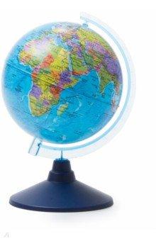 Глобус Земли политический (d=150 мм) (Ке011500197)Глобусы<br>Глобус Земли политический<br>Диаметр - 150 мм.<br>На пластиковой подставке.<br>Крым в составе РФ.<br>Сделано в России.<br>
