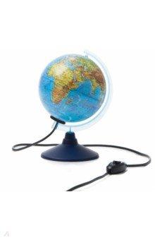 Глобус Земли физико-политический, d-150 мм, подсветка (Ке011500201) Globen