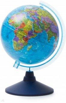 Глобус Земли политический (d=210 мм) (Ке012100177)Глобусы<br>Глобус Земли политический<br>Диаметр - 210 мм.<br>На пластиковой подставке. <br>Крым в составе РФ.<br>Сделано в России.<br>
