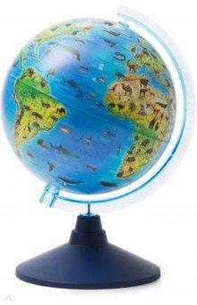 Глобус детский Зоогеографический (d=210 мм) (Ке012100207)Глобусы<br>Глобус детский Зоогеографический<br>Диаметр - 210 мм.<br>На пластиковой подставке. <br>Сделано в России.<br>