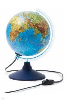Глобус Земли физико-политический с подсветкой (d=210 мм) (Ке012100181) Globen