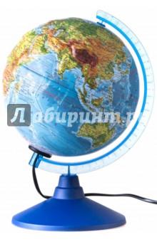 Глобус Земли физический рельефный с подсветкой (d=210 мм) (Ке022100184) Globen