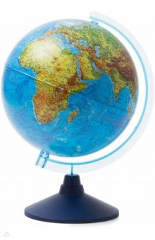 Глобус Земли физический (d=250 мм) (Ке012500186)Глобусы<br>Глобус Земли физический<br>Диаметр - 250 мм.<br>На пластиковой подставке. <br>Сделано в России.<br>