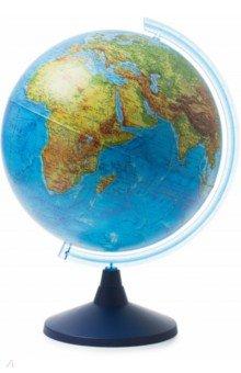 Глобус Земли физический (d400 Ке014000242)Глобусы<br>Глобус Земли физический.<br>Диаметр: 400 мм.<br>На пластиковой подставке. <br>Сделано в России.<br>