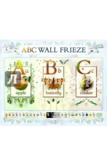 ABC Wall FriezeАнглийский для детей<br>Make the alphabet come to life with this stunning nature-themed frieze<br>This beautifully illustrated wall frieze brings the outside indoors. It is the perfect way to decorate a babys or toddlers nursery, or a school classroom. Children will have great fun using it to learn their letters, as well as hunting for the hidden objects around each letter. It comes in seven panels for easy fixing either as a poster or in a continuous strip measuring 11 feet, five inches long.<br>