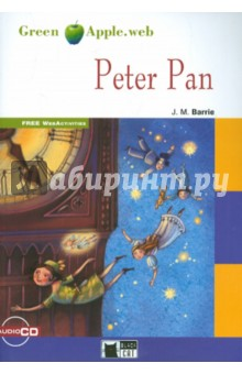 Green Apple.  Peter Pan + Cd New EditionИзучение иностранного языка<br>Join Wendy, John and Michael as they fly off to Neverland with Peter Pan, where incredible adventures await them. Meet the Lost Boys in their secret underground home and swim with the lovely mermaids in Mermaids' Lagoon. But watch out for cruel Captain Hook and his pirates, who have terrible plans for Peter Pan and his friends...<br>