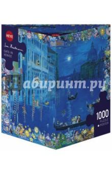 Puzzle-1000 Кошки в Венеции (29695)Пазлы (1000 элементов)<br>Пазл-мозаика. <br>Количество элементов: 1000<br>Размер картинки: 70х50 см.<br>Правила игры: вскрыть упаковку и собрать игру по картинке.<br>Не давать детям до 3-х лет из-за наличия мелких деталей.<br>Материал: картон<br>Упаковка: картонная коробка.<br>Сделано в Чехии.<br>