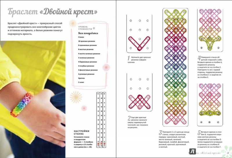Схемы в картинках для плетения браслетов из
