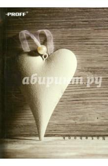 Записная книжка Сердца (80 листов, A6, клетка) (4806155030) Proff
