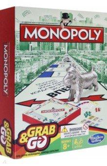 Дорожная игра Монополия (B1002H)Бизнес-игры<br>Классическая игра Монополия - теперь в дорожном варианте!<br>Сделай ХОД,<br>Заключи СДЕЛКУ,<br>Сколоти СОСТОЯНИЕ!<br>Возьми с собой в дорогу - на пути к успеху!<br>В комплекте: игровая доска, наклейка на игровую доску, картонный лист (карточки Собственника, списки Шанс и Общественная казна и 4 карточки Выйти из тюрьмы бесплатно), 4 пластмассовые фишки, деньги MONOPOLY, 3 игральных кубика, 32 Дома, 12 Отелей, правила игры.<br>Материал: картон, пластмасса.<br>Для детей старше 8-ми лет. Содержит мелкие детали.<br>Сделано в Китае.<br>
