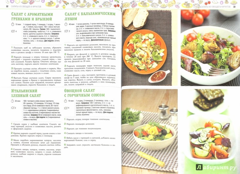 Кулинарные рецепты салатами
