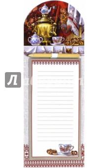 Блок для записи с карандашом (на магните, 40 листов, 6 видов) (37989-24)