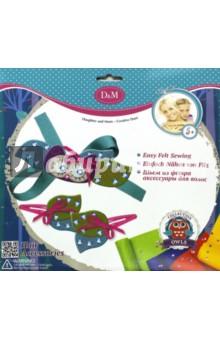 Набор для создания аксессуаров для волос Совы (57963)Шитье, вязание<br>Набор для создания аксессуаров для волос из фетра.<br>В наборе: 11 фетровых заготовок, 2 разные ленточки, 1 пластиковая игла, 31 пайетка, 2 заколки, нитки, инструкция.<br>Материал: текстиль, пластик.<br>Упаковка: картонный блистер.<br>Для детей от 5 лет.<br>Сделано в Китае.<br>