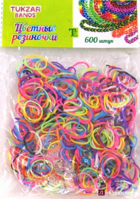 Иллюстрация 1 из 13 для Набор цветных резиночек (двухцветные) (AN-75) | Лабиринт - игрушки. Источник: Лабиринт