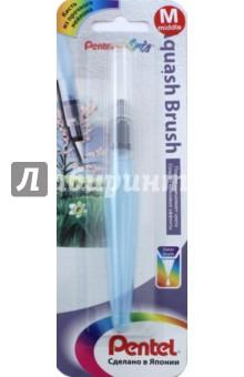 Кисть средняя с резервуаром для воды (XFRH/1-M)Другие виды кистей<br>Кисть с резервуаром для воды.<br>Средний размер.<br>Резервуар для воды 10 мл.<br>Клапан контроля воды. <br>Материал - нейлон.<br>Пластиковый корпус.<br>Упаковка: блистер.<br>Сделано в Японии.<br>