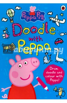 Doodle with PeppaЛитература на иностранном языке для детей<br>Draw, doodle and colour with Peppa Pig, George and their friends. Packed with 128 pages of creative fun to keep little piggies busy for hours!<br>