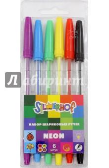 """Набор шариковых ручек """"NEON"""" (6 цветов, 1 мм) (026128-00)"""