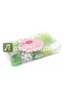 Набор акриловых бусинок зеленый (57403)Украшения из бисера, бусин, страз и ниток<br>Набор акриловых бусинок для развития творческих способностей и создания оригинальных украшений.<br>Более 500 бусин.<br>Материал: акрил.<br>Упаковка: пластиковый бокс.<br>Для детей от 6 лет.<br>Сделано в Китае.<br>