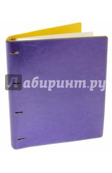 """Тетрадь на кольцах """"Copybook"""" со сменным блоком (200 листов, А4+, фиолетово-желтая) (37937)"""