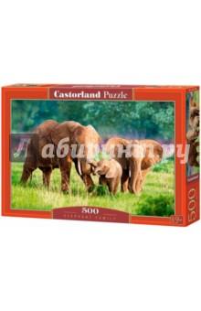 """Puzzle-500 """"Семья слонов"""" (B-52196)"""