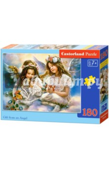 Puzzle-180 Два Ангела (В-018215)Пазлы (100-170 элементов)<br>Пазл-мозаика.<br>Способствуют развитию образного и логического мышления, наблюдательности, мелкой моторики и координации движений руки.<br>Размер собранной картинки: 32х23 см<br>Количество элементов: 180<br>Материал: картон.<br>Упаковка: картонная коробка.<br>Правила игры: вскрыть упаковку и собрать игру по картинке.<br>Для детей от 7-ми лет.<br>Не давать детям до 3-х лет из-за наличия мелких деталей.<br>Сделано в Польше.<br>