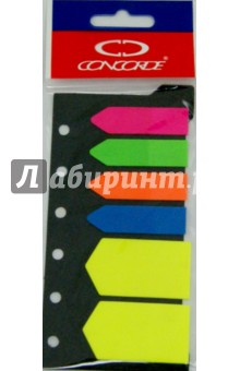 Закладка 4 цвета по 20 листов - 12х48 мм, 2 цвета по 20 лисотв - 25х48 мм (0994/07051) Concorde