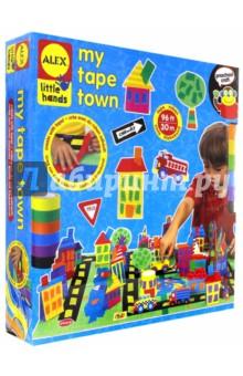 Набор для поделок из цветной клейкой ленты Город (1522)Другие виды творчества<br>Используя разноцветную клейкую ленту, можно создать свой собственный город с домами, дорогами, машинками и парком.  Игра отлично развивает творческие способности и фантазию.                                                                                 <br>В наборе: 30 м цветной клейкой ленты 6 цветов, 68 стикеров, бумажные фигурки, 2 основы 20 х 30 см, 4 бумажных стаканчика и подробная инструкция в картинках.<br>Материал: бумага.<br>Упаковка: картонная коробка.<br>Для детей от 3 лет.<br>Сделано в Китае.<br>