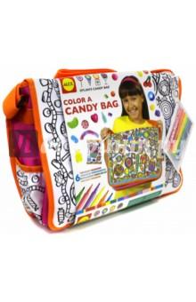 Набор Раскрась сумку  с узором из конфет (509D)Роспись по ткани<br>В наборе сумка размером 36 см х 28 см х 10 см. подходит для школьных учебников, тетрадок и письменных принадлежностей, 6-ю яркими маркерами, которые не стираются. Раскрасьте сумку, как вам понравится!<br>Не рекомендовано детям младше 3-х лет. Содержит мелкие детали. <br>Для детей от 8-ми лет.<br>Сделано в Китае.<br>