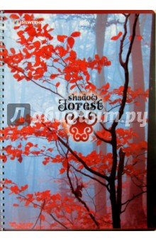 "Тетрадь 80 листов, А4, гребень ""Shadow forest"", 2 вида (811458-75)"