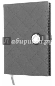 Ежедневник недатированный (серебро, на магнитной застежке) (37514-18)