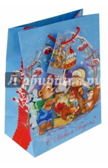 Пакет бумажный новогодний 17.8*22.9*9.8 см (38521) Феникс-Презент